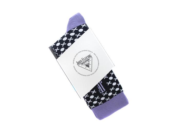 XO Vog Socks Black/White Printed ankle sock
