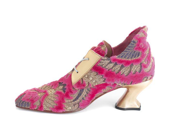 Eminence Pink Jacquard Jacquard lace-up heel