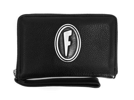 Lulu Wallet Black Leather wristlet