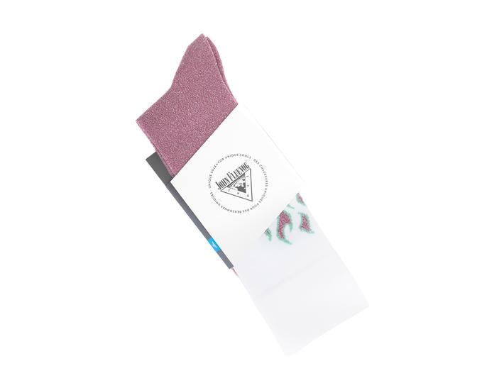 Pico Vog Socks White/Pink Sparkly flame sock