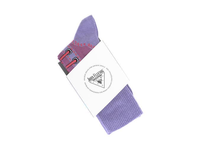 Derby Swirl Vog Socks Purple Knitted Angel sock