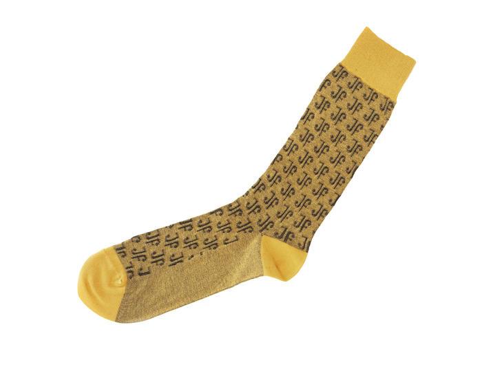 Monogram Vog Socks Gold/Black Knit monogram sock