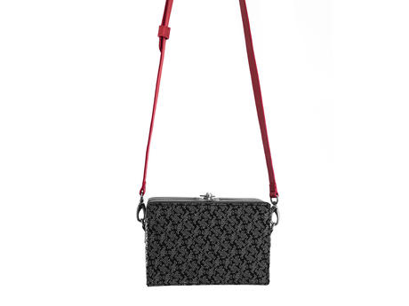 Klara Bag Black/White JF Monogram Jacquard monogram box bag