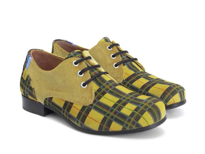 CBC: Men's - Yellow Plaid | Leather