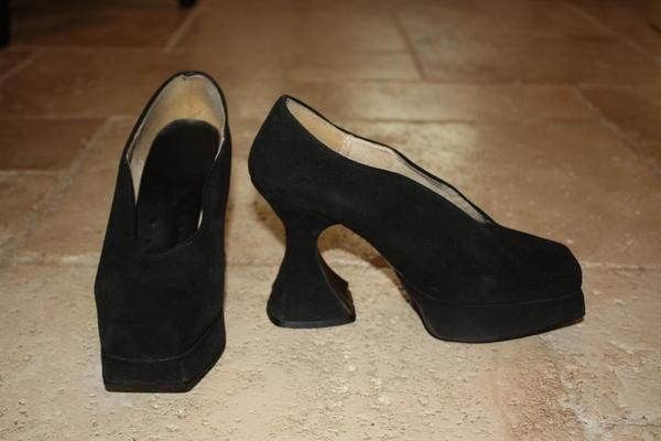 Vintage Fluevog Platform Mini Court Shoes