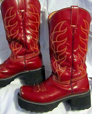 6bb7e7059dc Fluevog Shoes   Fluemarket   Fluemarket   Cherry Red platform boots ...