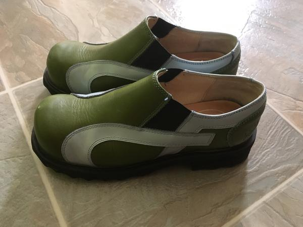 Green loafer sz 5 1/2 uk ladies 7 us