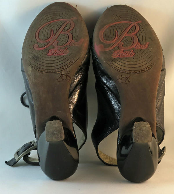 Blind Faith Pumps with buckles and open strips across the top