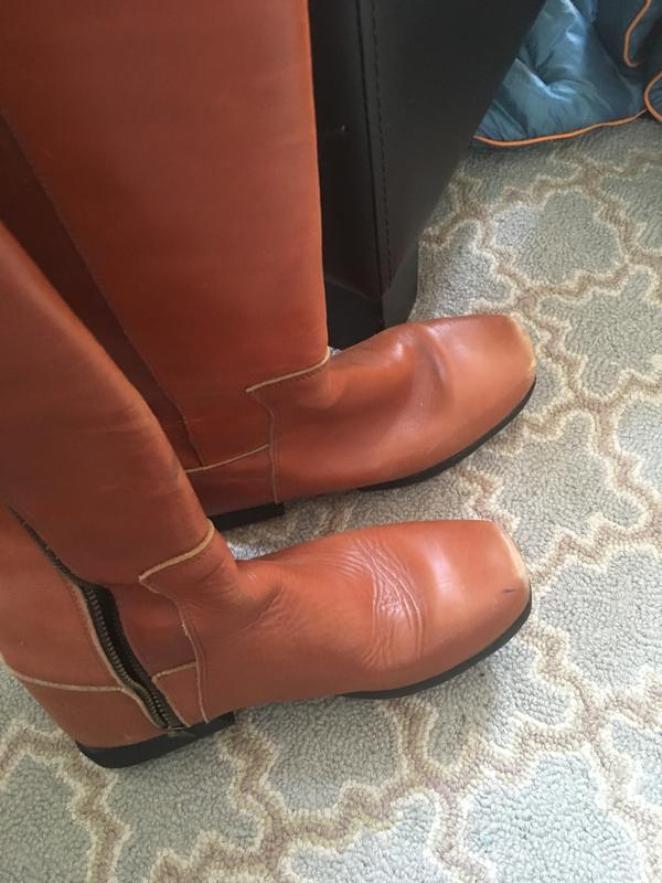 Knee High Brown Belted Boot