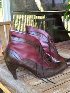 Lady Grey Boots with Teapot Heel