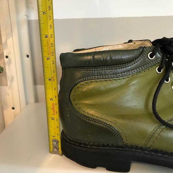 Green on Green, Lace Up Ankle Boots