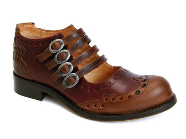ADRIANS Family: ALLI 4 BUCKLE MARY JANES WINGTIP BROGUE SHOES