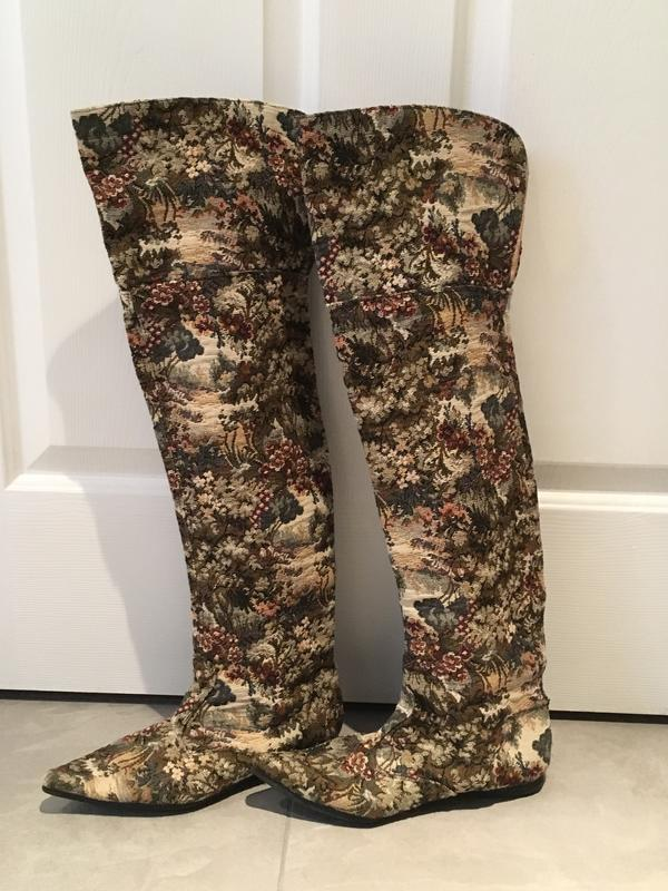 Vintage Tapestry Thigh High Boots Circa 1983