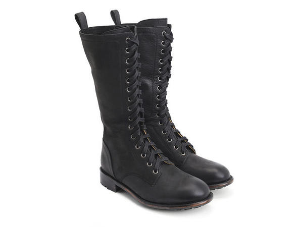 Hedwig Leather Lace up boots