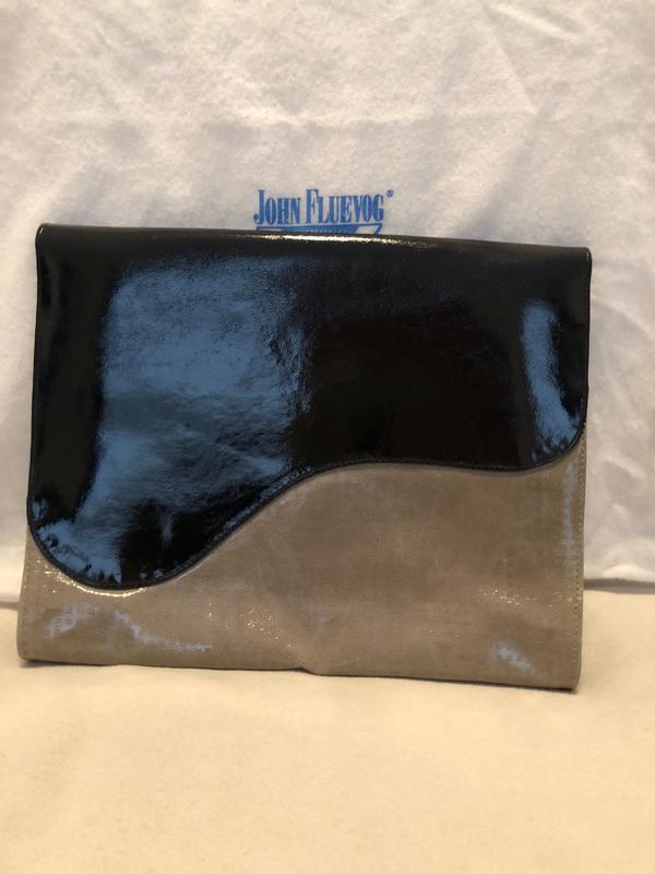 Fluevog shiny leather clutch