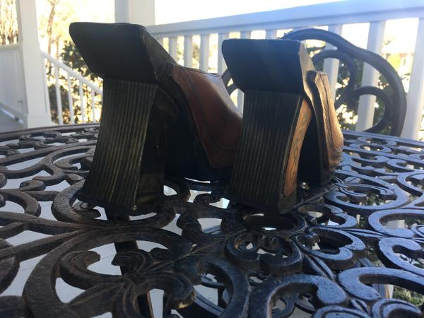 Beautiful pair of wooden heels Size 7 *Reduced Price