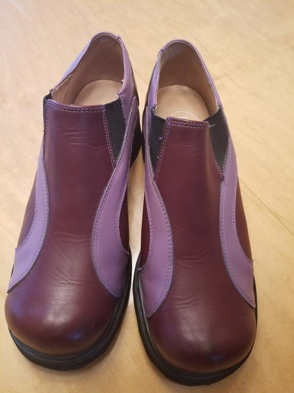 Burgundy & Lilac F-Shoes Loafers