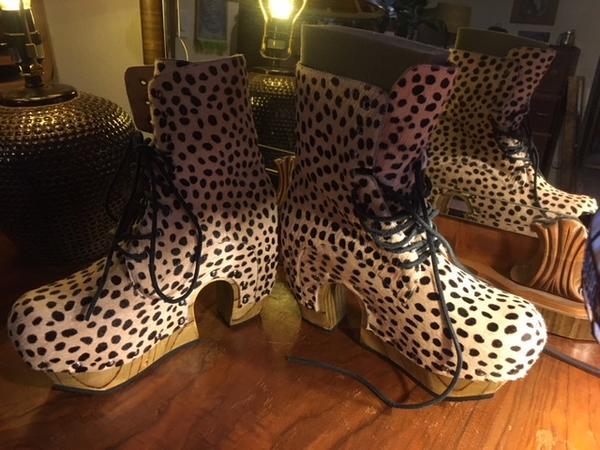 Rainbow Boot Cheetah Print