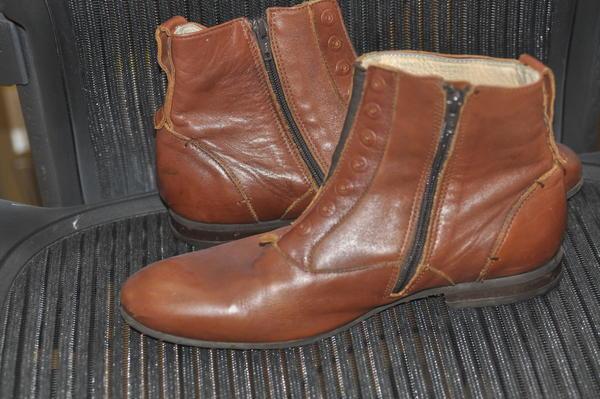 Fluevog Conga Leather Ankle Boot