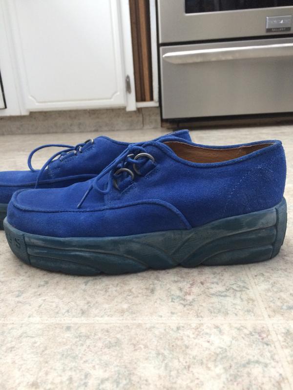 Provog One-o-one blue suede shoes
