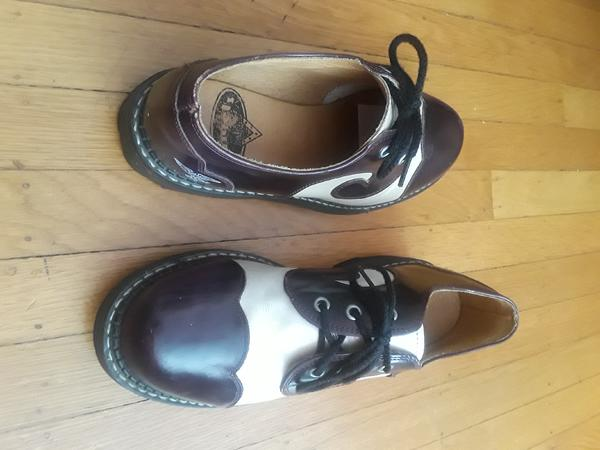 ANGELS: GIBSON SWIRL OXFORDS SHOES - VEGAN