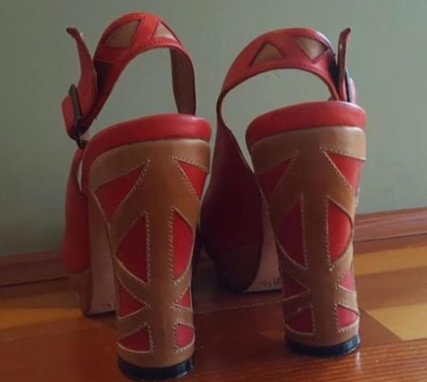 [John Fluevog] miracles red platform heels