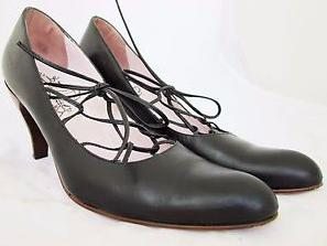Serve And Be Served Lace Up Heels