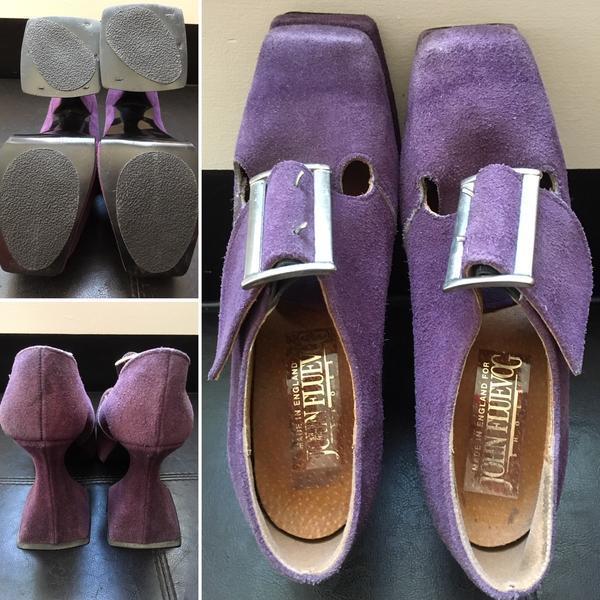 1990s Vintage Purple Suede Munsters
