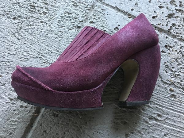 Purple Suede Platforms