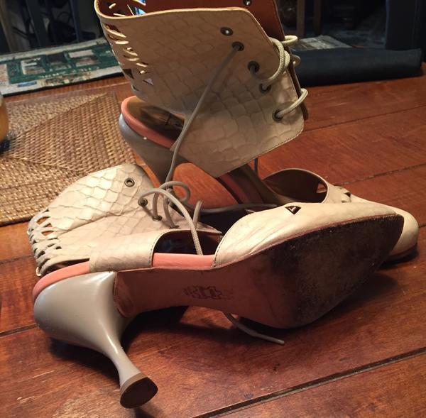 Unique pair of Fluevog Heels