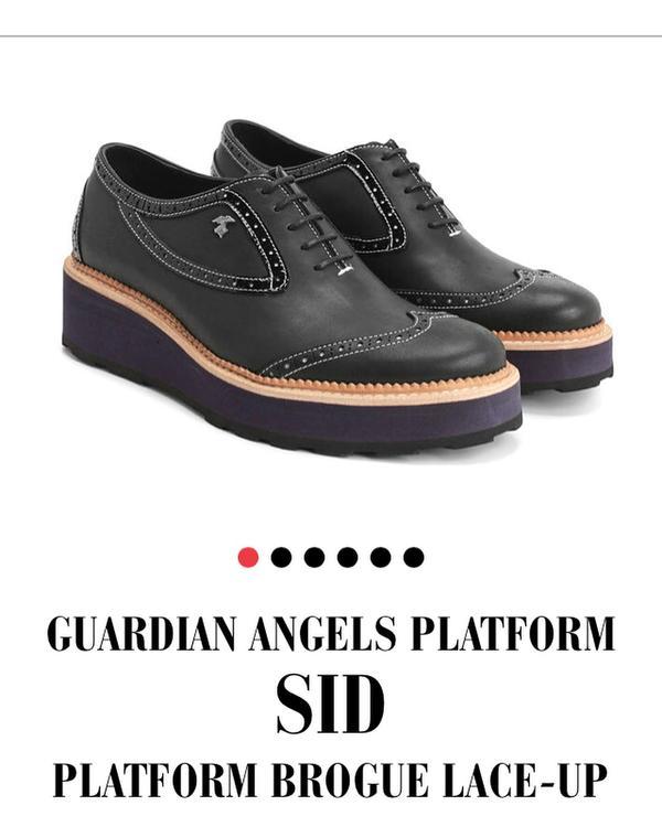 Guardian Angels SID Platform Brogue Lace-Up
