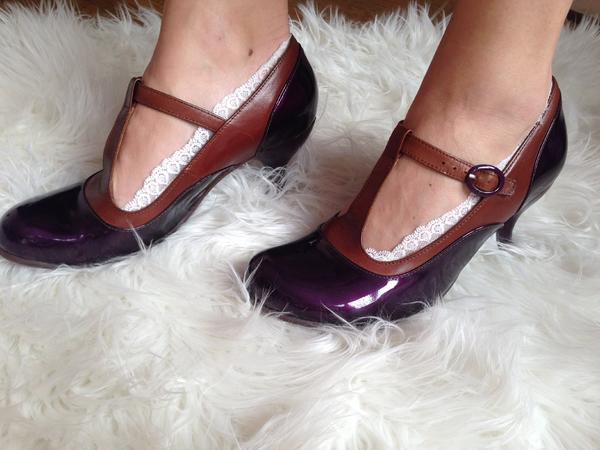 Bellevue Laura Evans 8 Patent Purple/Brown 8