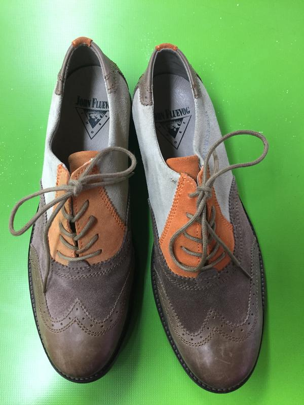 Features Welles Multi colour Suede Brogues