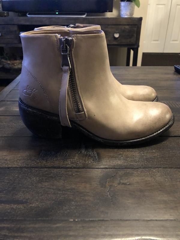 Tan fluevog ankle boots