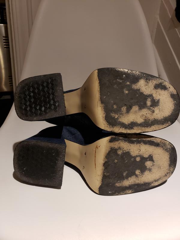 Vintage womens denim boots 1996