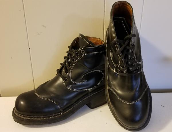 Fluevog Angel Boots Men's 6, Women' s 8