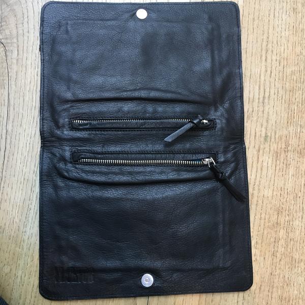 Black Zipper Clutch