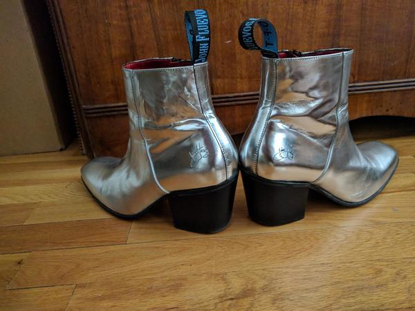 Vintage 2008 Twin turbines Hi Perry Men's 8 (Women's 10) boots Silver 8