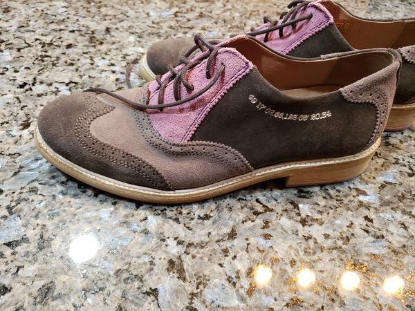 Men's Shoes Grey and Pink 10