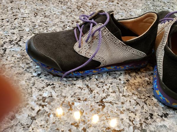 Men's Shoes Black and Grey with Colourful Sole 10