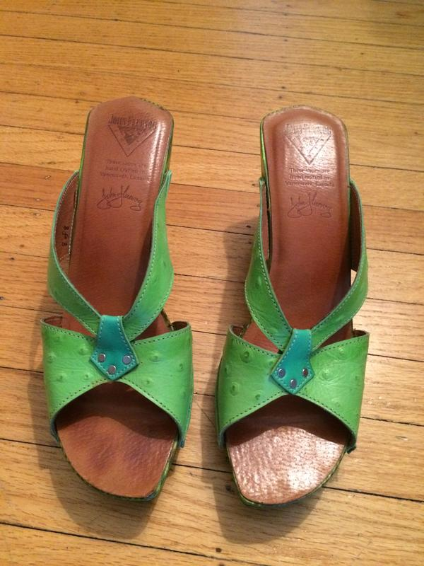 Collector's item: Handcrafted wooden heeled sandal