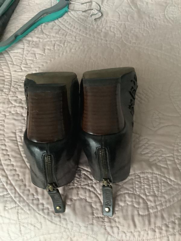 Open toe bootie Black 7