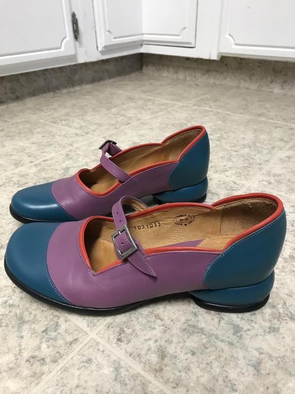 Fellowship Sandra (PRICE REDUCED) Teal, lilac and red 6 1/2