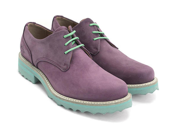 LOFS Kaya Purple shoe with a turquoise sole 7 1/2
