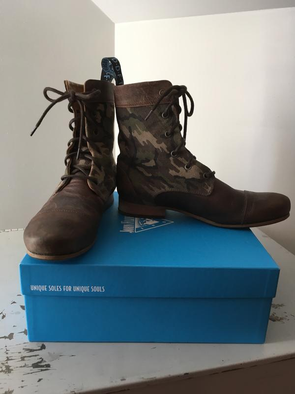 BBC Radio Lace-Up Short Boot Camo (Military) and Brown 9 1/2
