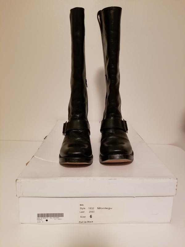 Montegu pull up tall black boot Black 8 1/2
