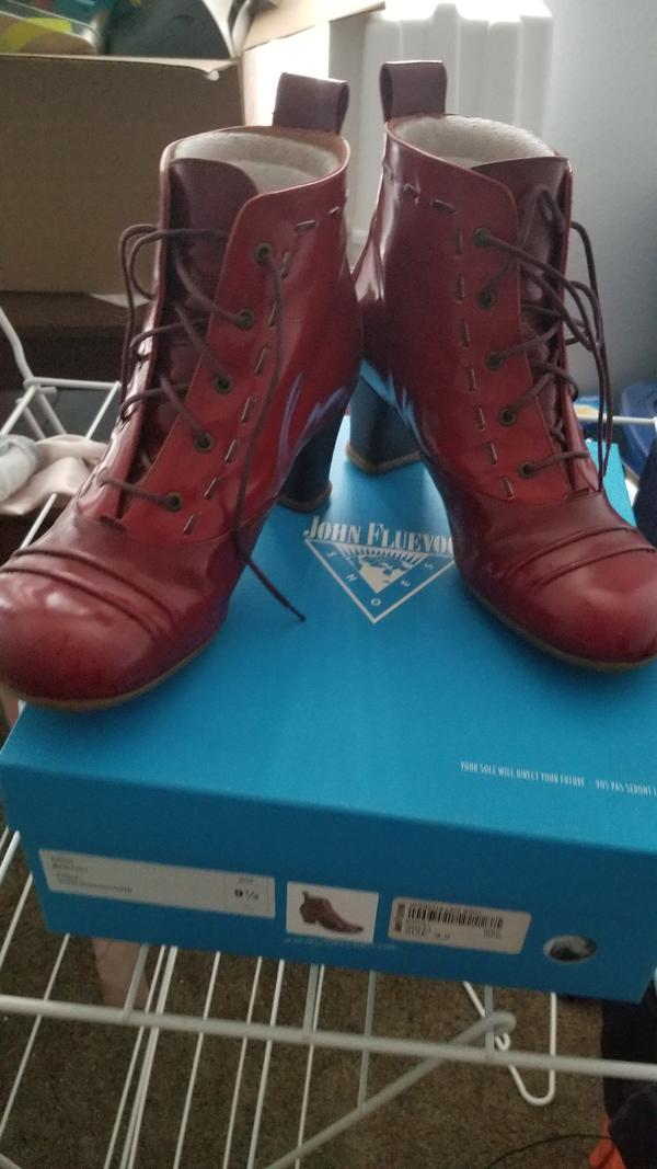 Bartoli boots, red, sz 9.5 Red 9 1/2