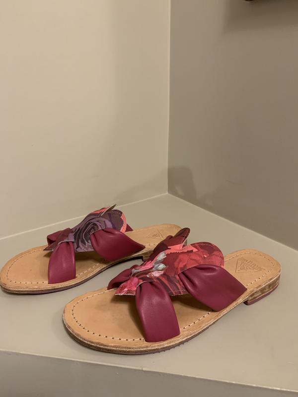 Tambo Rivers Heart Sandal Floral (pink) 8