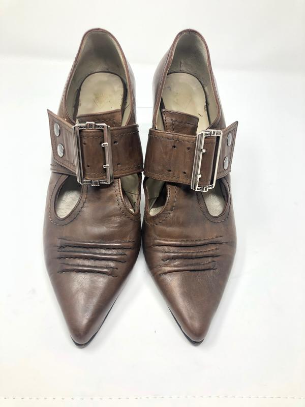 Truths Pilgrim Brown Leather Boots Brown 8 1/2