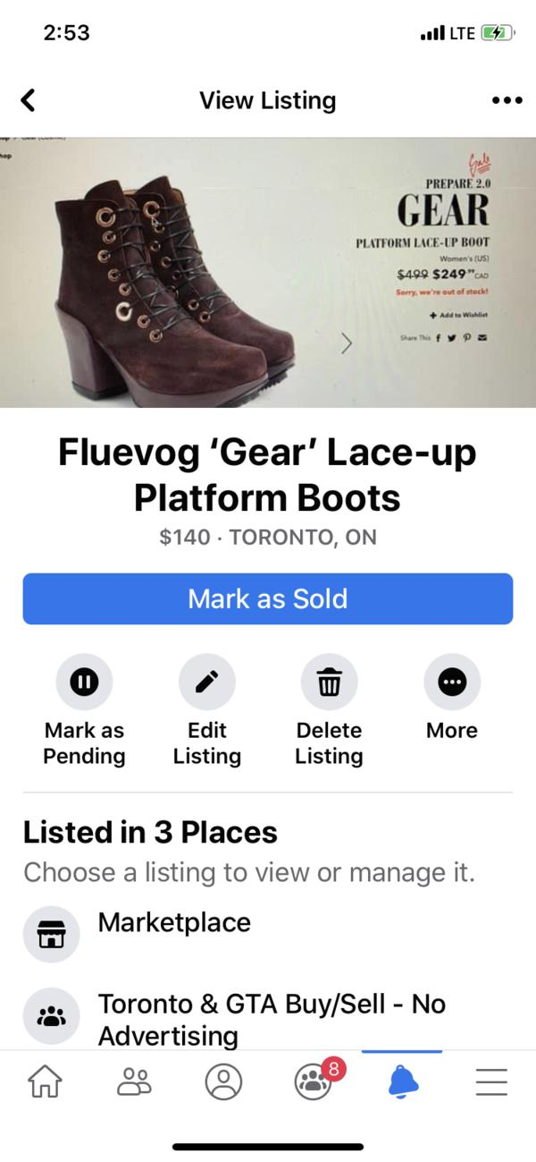 Gear Lace-up Platform Boots Brown/Purple 9 1/2